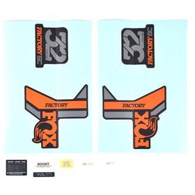 Fox Racing Shox Aufkleber Set für 32 SC F-S orange/schwarz